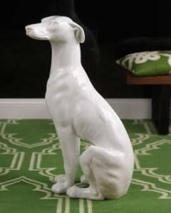 Vellum New York Ceramic Greyhound