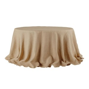 Burlap Tablecloth Wisteria